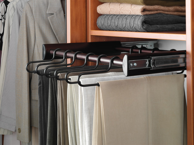 Pull Out Pant Rack - Contemporary - Clothes Racks - other metro - by Organized Interiors