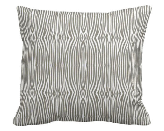 PURE Inspired Design - Mini Zebra Organic Pillow Cover, Khaki/Natural, 18 X 12 - Collection:  PURE Beach