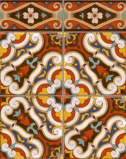 Turkish medallion mediterranean kitchen tile