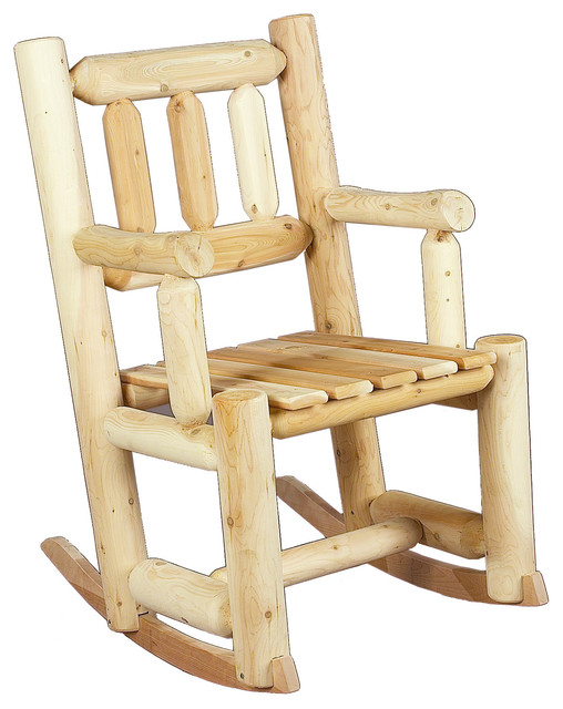 Rustic Natural Cedar 010003a Wooden Porch Rocker Rustic Outdoor Rocking Chairs By Outdoor