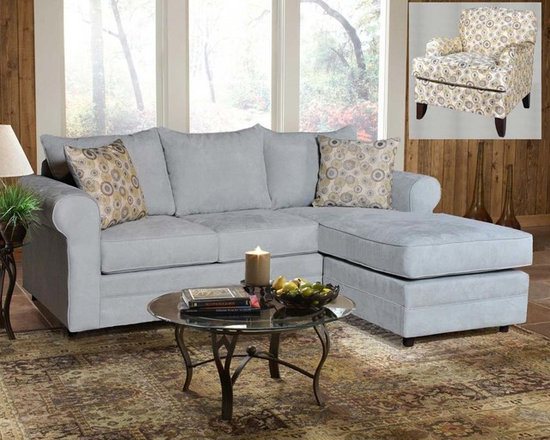 Chelsea Home Furniture - Chelsea Home Anita 2 Piece Sofa Chaise Living Room Set in Blitz Capri - Nightlif - Chelsea Home Anita 2 Piece Sofa Chaise Living Room Set in Blitz Capri - Nightlife Spring Pillows