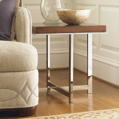 Lexington Mirage Taylor Square Wood Lamp Table modern-bar-tables