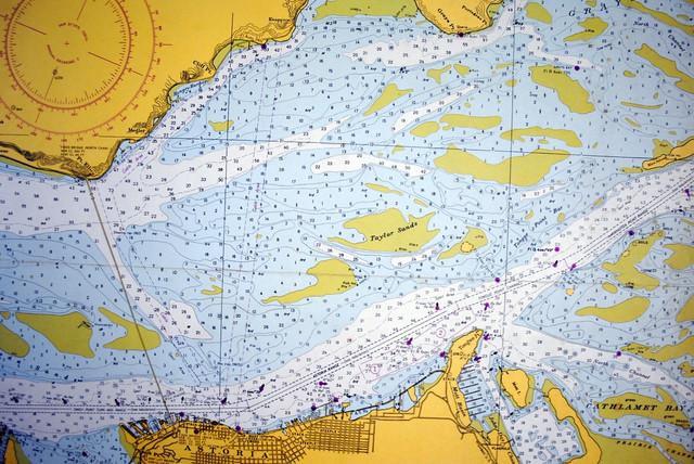 Vintage Nautical Map traditional-artwork
