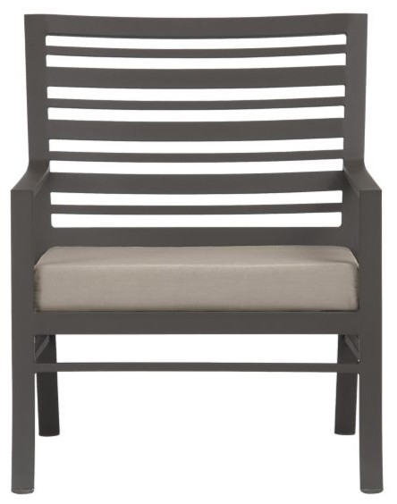 Valencia Lounge Chair with Sunbrella Stone Cushion modern-outdoor-chairs