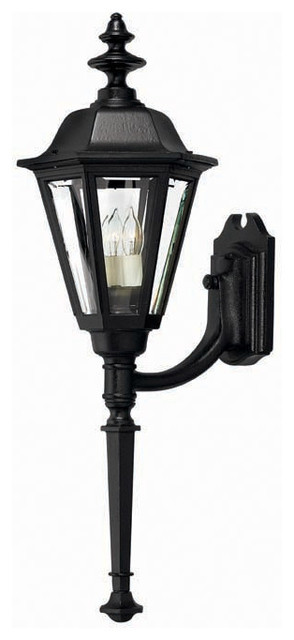 Hinkley Lighting 1440BK Manor House Black Outdoor Wall Sconce traditional-outdoor-wall-lights-and-sconces