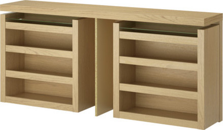 MALM 3-piece headboard/bed shelf set - modern - headboards - by IKEA