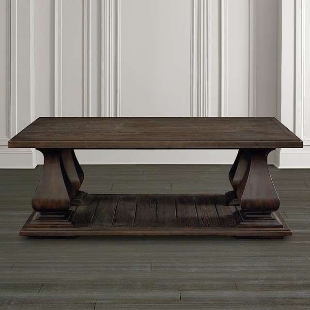 Emporium Rectangular Cocktail Table By Bassett Furniture Contemporary Coffee Tables
