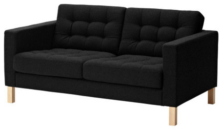 KARLSTAD Loveseat, Tufted, Ullevi Gray modern-loveseats