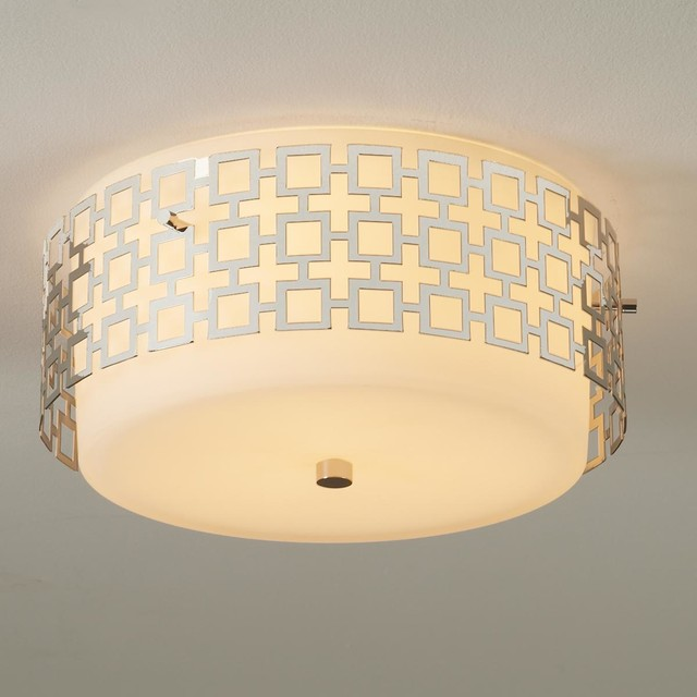 jonathan adler ceiling light 3 finishes flush mount. Black Bedroom Furniture Sets. Home Design Ideas