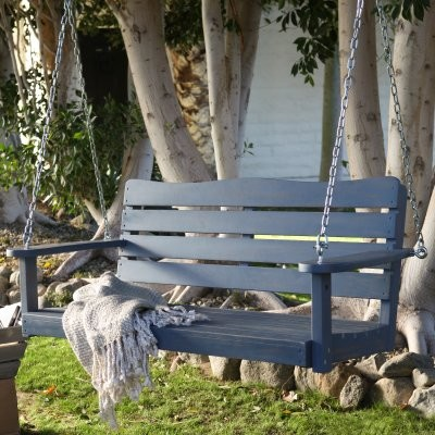 cape maye weathered porch swing wedgewood blue modern