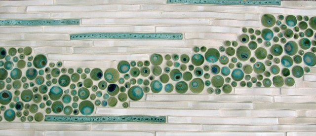Bamboo and Bubbles Tile contemporary-tile