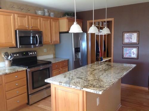 Honey Oak Kitchen Cabinets & Locker Cubbies
