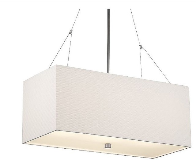 Alexis Rectangular Pendant by Forecast Lighting at Lumens modern chandeliers