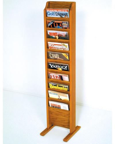 Free Standing Ten Pocket Magazine Rack - Modern - Magazine ...