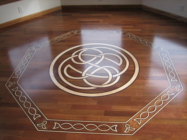 Celtic themed design hardwood floor hardwood flooring for Hardwood floor designs