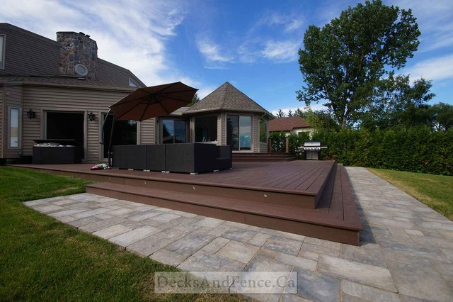 Multi Level Backyard Decks : toronto decks and fence company decks patios outdoor enclosures