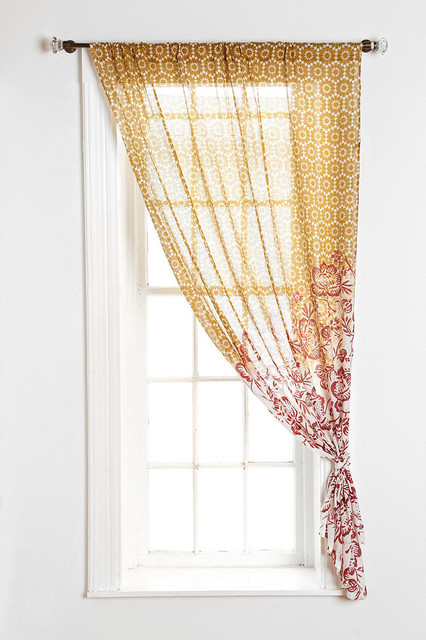 magical thinking floral cluster curtain pink contemporary curtains by urban outfitters