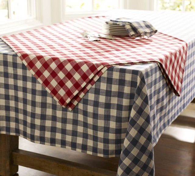 Gingham Check Tablecloth - Traditional - Tablecloths - by Pottery Barn