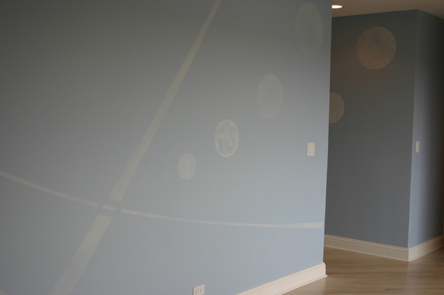 Bed room mural contemporary