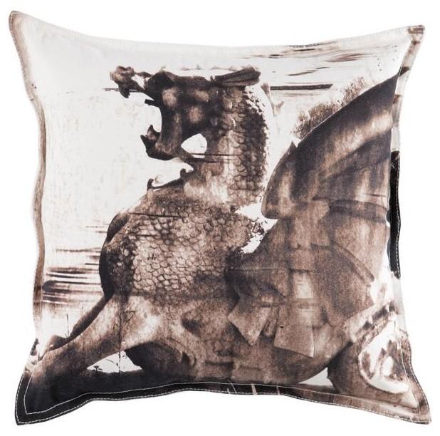 Aidan Gray Dragon Pillow Cover traditional-decorative-pillows