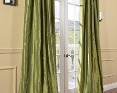 HPDs Exclusive Fern Faux Solid Taffeta Silk Curtains & Drapes contemporary curtains