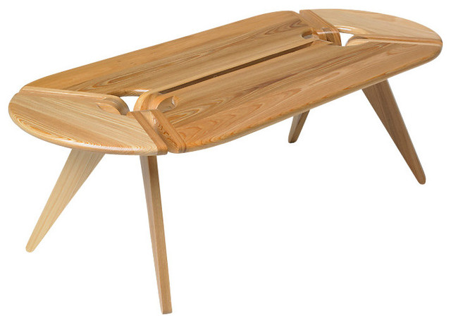 New breed oval coffee table contemporary coffee tables for Contemporary oval coffee tables