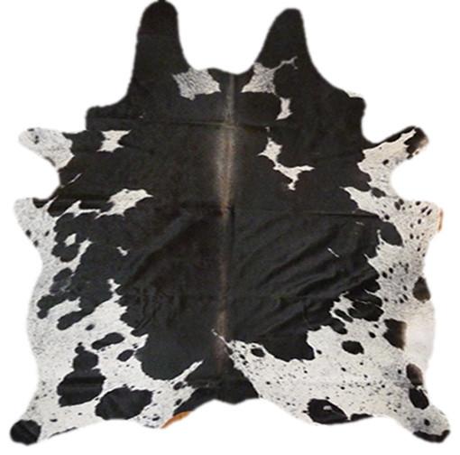 Cowhide Black Freckles rustic-rugs