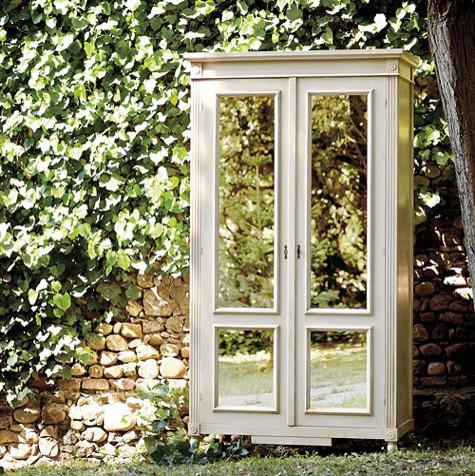 Louis Xvi Armoire With Antique Mirrored Doors