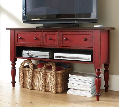 Leena Media Console | Pottery Barn traditional media storage