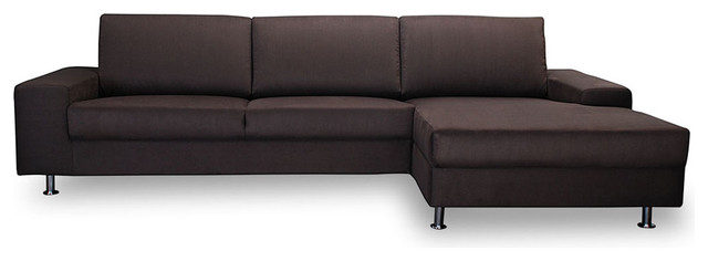Islington Mocha Sectional Sofa (L) modern-sectional-sofas
