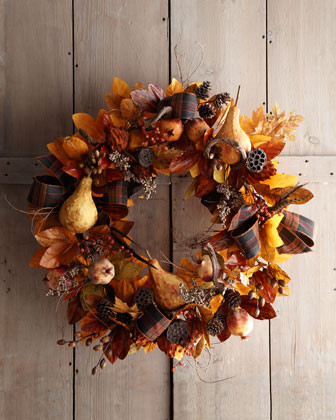 28 Autumn Wreath traditional holiday decorations
