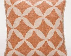 Rust Animalia Jute Throw Pillow contemporary-decorative-pillows