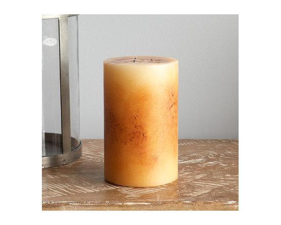 Antique Pillar Candle -
