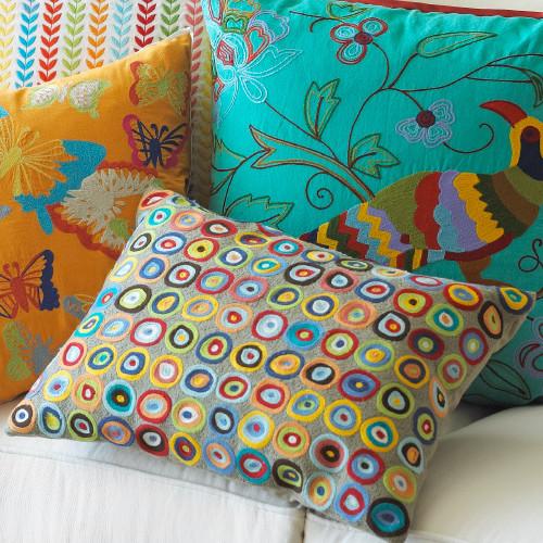 Circles Komang Pillow eclectic-decorative-pillows