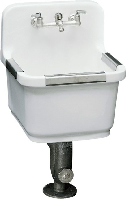 KOHLER K-6650-0 Sudbury Service Sink With Two-Hole Faucet