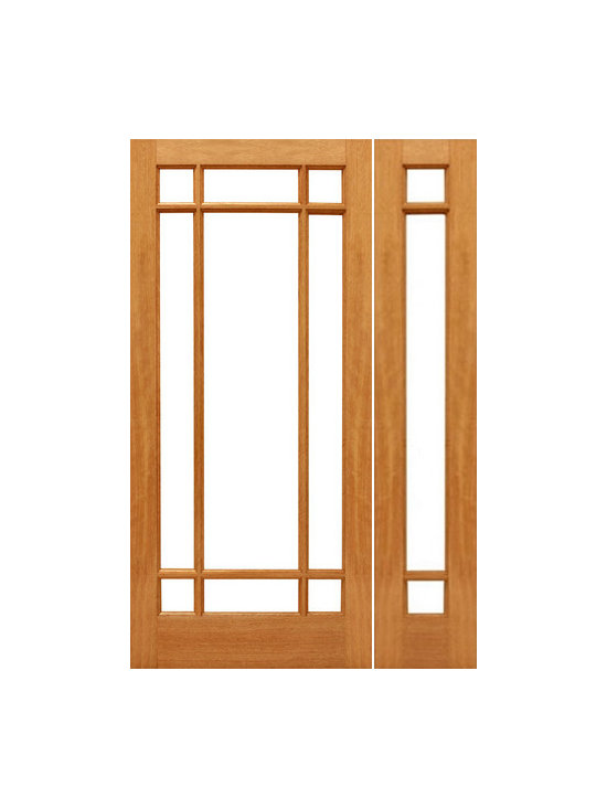 "Pre-hung 9-Marginal French Brazilian Mahogany IG Glass Sidelight Door - SKU#    9-Marginal-Ext-1-1Brand    AAWDoor Type    FrenchManufacturer Collection    Mahogany French DoorsDoor Model    Door Material    WoodWoodgrain    MahoganyVeneer    Price    1228Door Size Options    [30""+14"" x 80""] (3'-8"" x 6'-8"")  $0[30""+18"" x 80""] (4'-0"" x 6'-8"")  +$20[32""+14"" x 80""] (3'-10"" x 6'-8"")  $0[32""+18"" x 80""] (4'-2"" x 6'-8"")  +$20[36""+14"" x 80""] (4'-2"" x 6'-8"")  $0[36""+18"" x 80""] (4'-6"" x 6'-8"")  +$20[30""+14"" x 96""] (3'-8"" x 8'-0"")  +$256[30""+18"" x 96""] (4'-0"" x 8'-0"")  +$276[32""+14"" x 96""] (3'-10"" x 8'-0"")  +$256[32""+18"" x 96""] (4'-2"" x 8'-0"")  +$276[36""+14"" x 96""] (4'-2"" x 8'-0"")  +$256[36""+18"" x 96""] (4'-6"" x 8'-0"")  +$276Core Type    SolidDoor Style    Door Lite Style    9 Lite , Marginal , Full LiteDoor Panel Style    Ovolo StickingHome Style Matching    Craftsman , Colonial , Cape Cod , VictorianDoor Construction    Engineered Stiles and RailsPrehanging Options    PrehungPrehung Configuration    Door with One SideliteDoor Thickness (Inches)    1.75Glass Thickness (Inches)    1/2Glass Type    Double GlazedGlass Caming    Glass Features    Insulated , Tempered , low-E , Beveled , DualGlass Style    Clear , White LaminatedGlass Texture    Clear , White LaminatedGlass Obscurity    No Obscurity , High ObscurityDoor Features    Door Approvals    FSCDoor Finishes    Door Accessories    Weight (lbs)    510Crating Size    25"" (w)x 108"" (l)x 52"" (h)Lead Time    Slab Doors: 7 daysPrehung:14 daysPrefinished, PreHung:21 daysWarranty    1 Year Limited Manufacturer WarrantyHere you can download warranty PDF document."