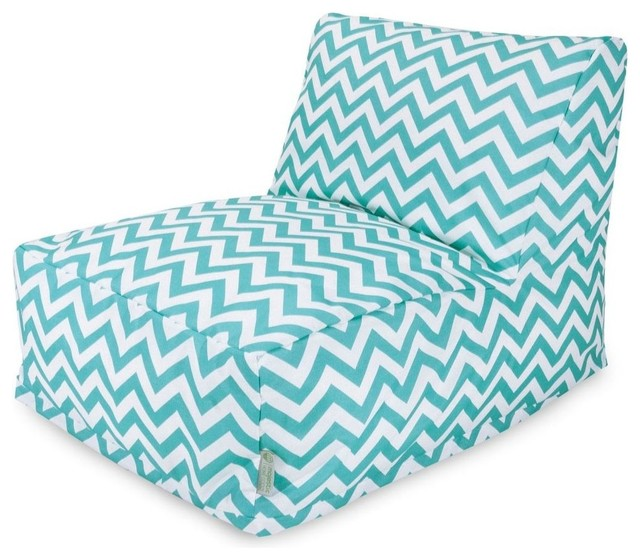 Teal Chevron Bean Bag Chair Lounger Contemporary Bean