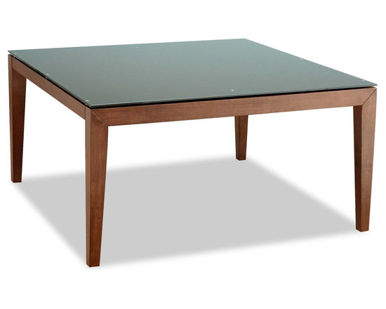 Bryght - Roger Brown Glass Cocoa Dining Table - A lovely square design that elicits elegance. The Roger dining table brings forth sophistication with its tempered glass atop a sleek wooden frame fixed firmly with stainless steel nails.