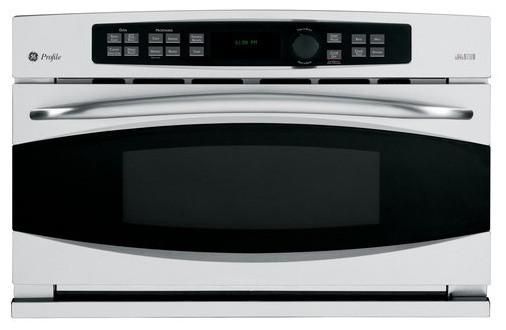 GE Profile Built-In Convection Microwave modern ovens