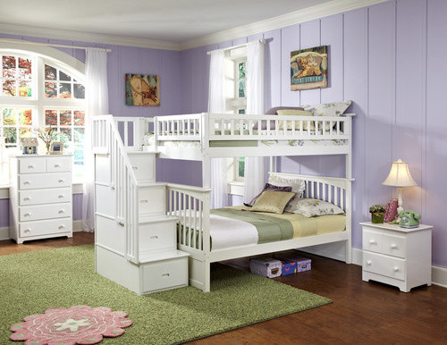 Columbia Staircase Bunk Bed with Storage modern-beds