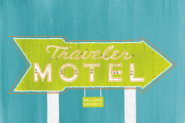 EVRT Studio - Traveler Motel Print modern artwork