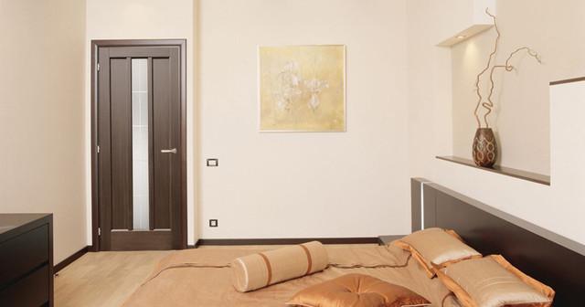 troyana dark oak modern interior door
