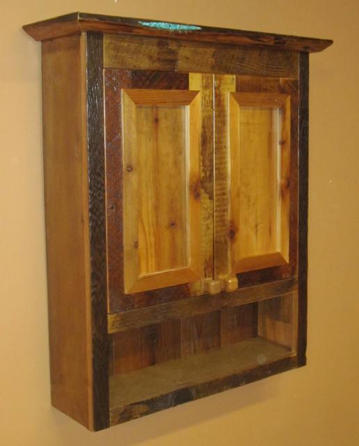 Reclaimed Barn Wood Bathroom - Traditional - Bathroom Cabinets And ...