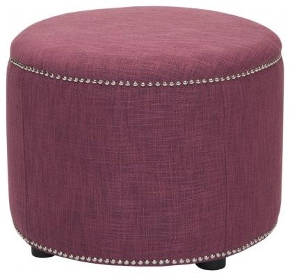 Florence Ottoman, Raspberry contemporary-footstools-and-ottomans