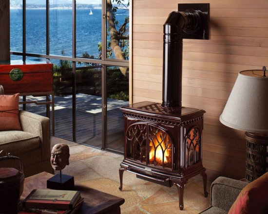 Avalon by Travis Industries - Avalon Tree of Life GreenSmart Gas Stove - Includes Ember-Fyre Burner, Comfort Control Feature, and interior Accent Light. Optional 130 CFM Fan & GreenSmart Remote Control.