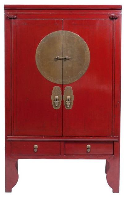 SOLD OUT! Chinese Red Lacquer Cabinet - $1,000 on Chairish.com