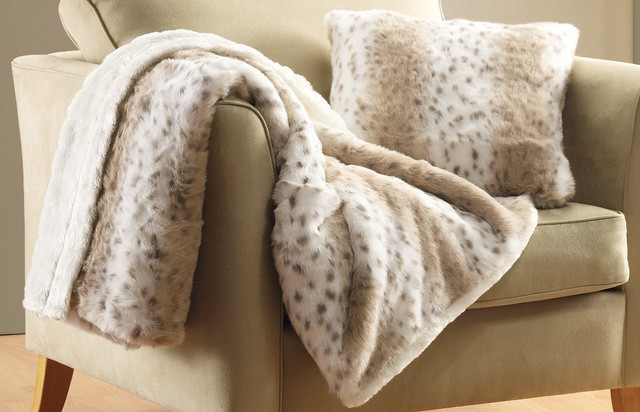 Snow Leopard Throw contemporary-throws