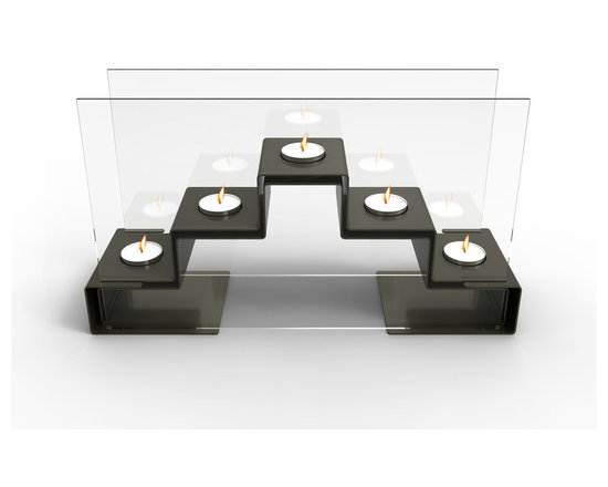 Decorpro - Pyramid Tea Light Holder In Gunmetal Grey - Pyramid is a  Tea Light Holder that creates a relaxing mood. It holds 5 tea lights, creating a beautiful ambiance. Pyramid tea light holder is the perfect accent piece for any living room, bathroom, spa, or table.