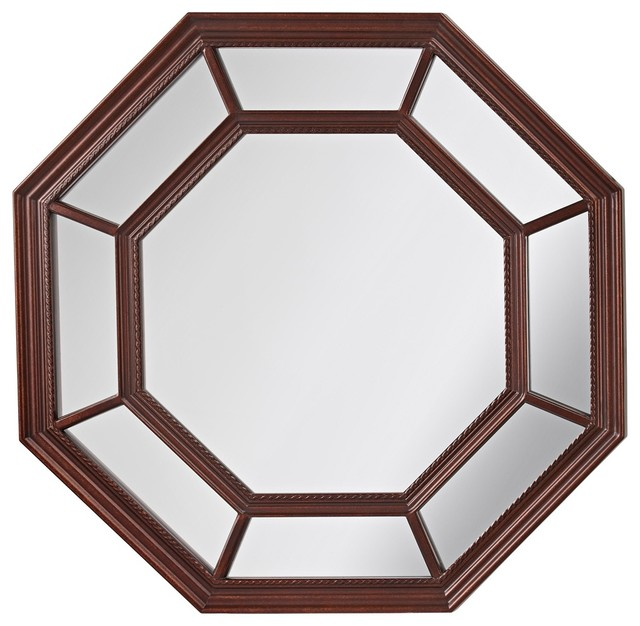 """Traditional Feiss Camden 30"""" High Octagon Wall Mirror traditional-wall ..."""