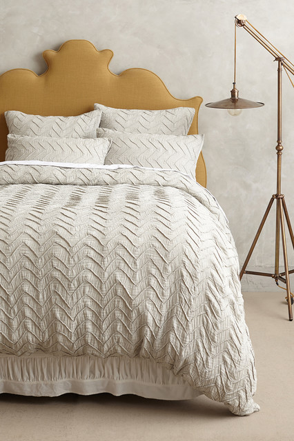 Textured Chevron Duvet Contemporary Duvet Covers And